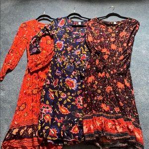 Boho dresses (3) in total